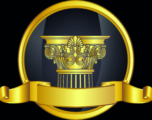 golden laurel wreath design vector