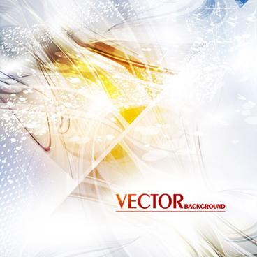 golden light lines background vector