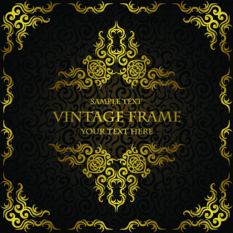 golden luxury frame vector graphics