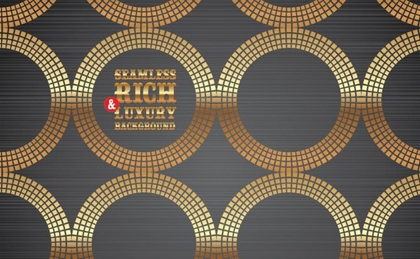 shiny golden circles background repeating seamless decor
