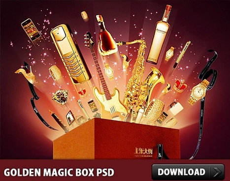 Golden Magic Box PSD