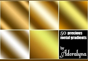Golden Metal Gradients