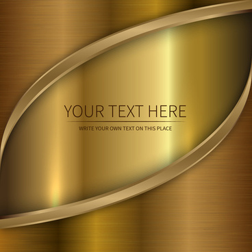 golden metallic shiny background vector