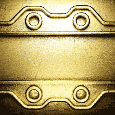 golden metallic vintage backgrounds design vector