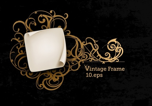 decorative frame pattern classic golden european curves