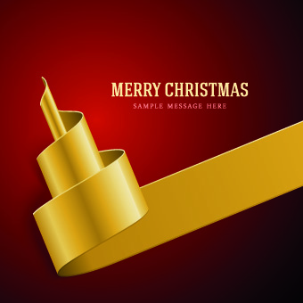 golden ribbon christmas holiday backgrounds vector