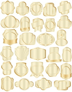 badge templates collection modern luxury shiny golden shapes