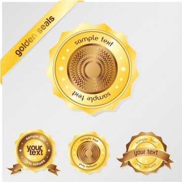 label templates modern shiny golden circle decor