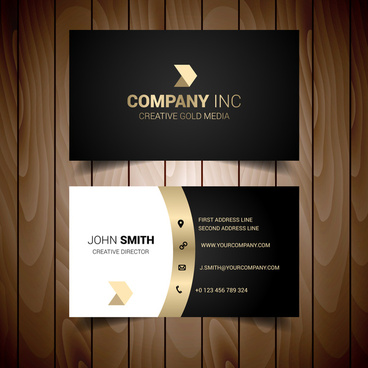 golden shades of grey solid corporate business card