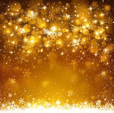 golden snowflake christmas shiny background