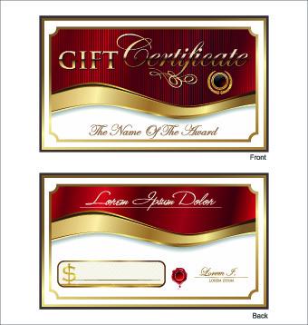 golden style gift certificate design vector