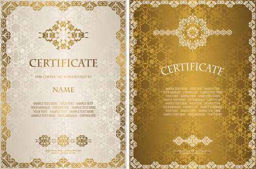 vector template certificates design graphics free vector