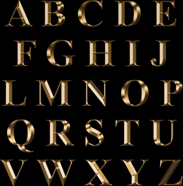 golden text design