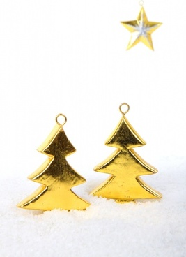 golden trees with star