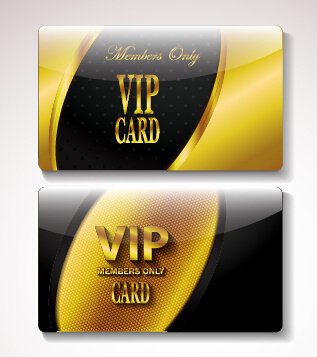 golden vip invitation cards vector design
