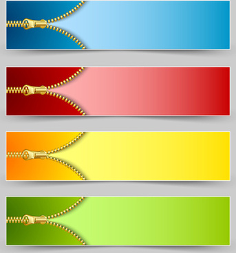 golden zipper banner vector