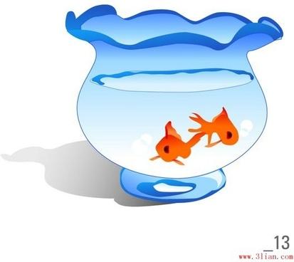 goldfish bowl vector