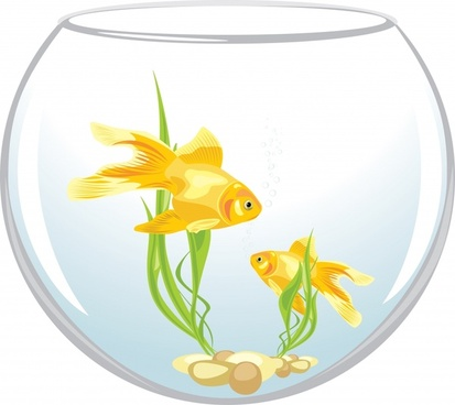 goldfish background bright colorful modern design