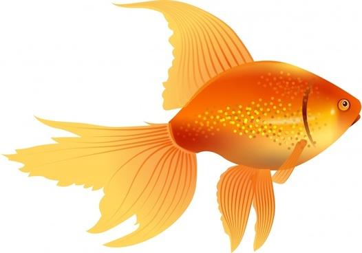 goldfish icon shiny modern yellow design