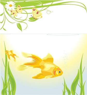 goldfish vector 3