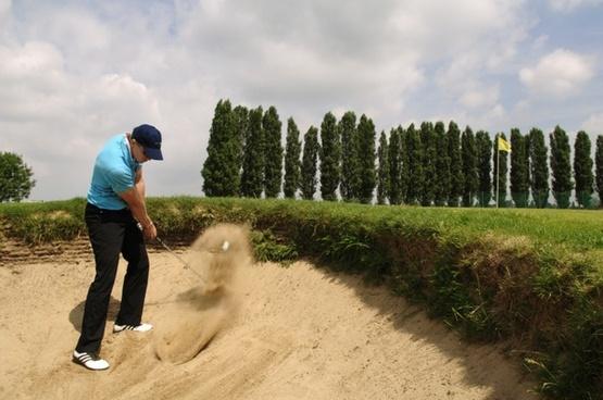 golf bunker sport