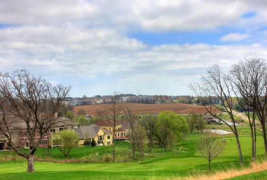 golf course landscape in madison wisconsin