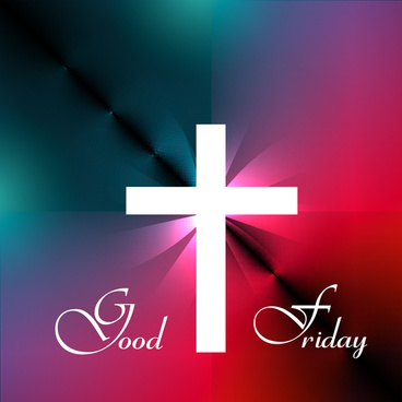 good friday beautiful background cross for colorful vector design