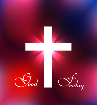 good friday religious and elegant background colorful vector design