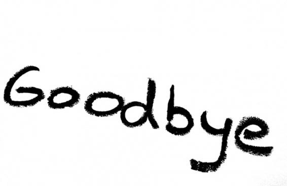 goodbye inscription