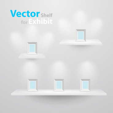 goods showcase exhibition booth free vector