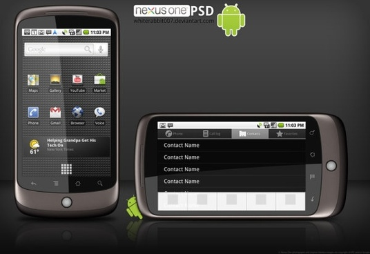 google nexus one phone hierarchical template picture