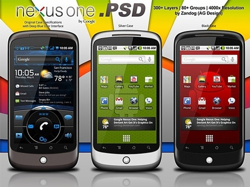 Google Nexus One Redux PSD