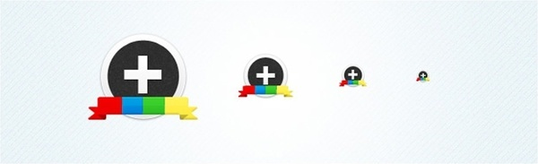 Google Plus(+) Circular Icon Set