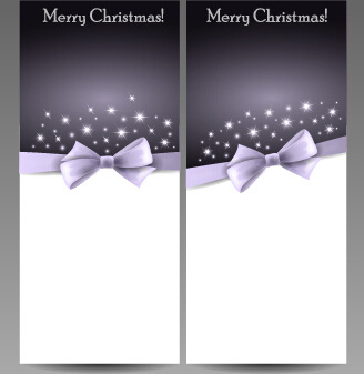 gorgeous15 christmas cards with bow vector set