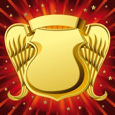 gorgeous badge background vector