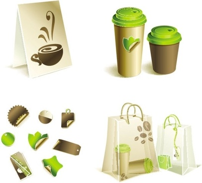 gorgeous bag with tea 03 vector