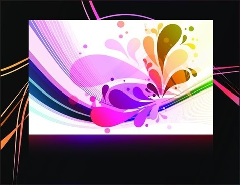 gorgeous black background pattern vector 1
