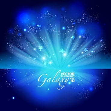 gorgeous blue glare background 02 vector