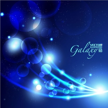 gorgeous blue glare background 05 vector