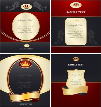 label templates elegant royal decor black red design