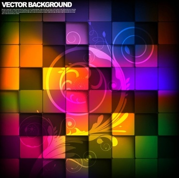 gorgeous box background 04 vector