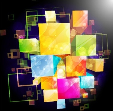 gorgeous box background 05 vector