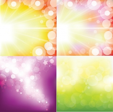 lights background templates colored modern vivid bokeh decor