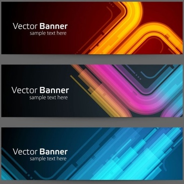 gorgeous bright banner01 vector