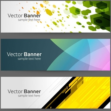 gorgeous bright banner03 vector
