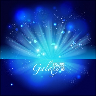 gorgeous bright blue glare background vector