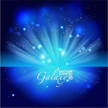 gorgeous bright blue glare background vector