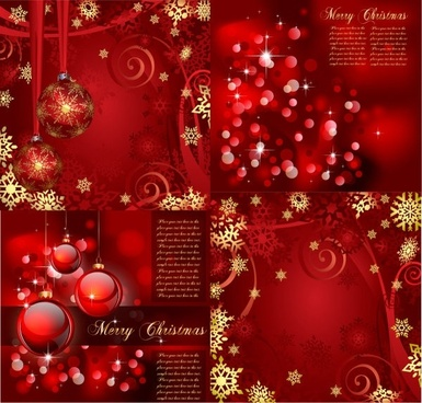 gorgeous bright christmas background pattern vector