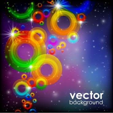 decorative background sparkling colorful blurred circles light effect