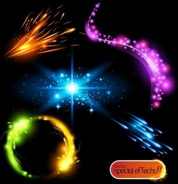 decorative light effect elements dynamic sparkling modern design